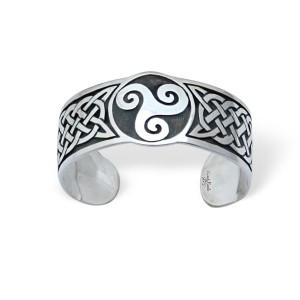 Silberarmrief Keltisches Triskele