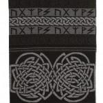 Jacquardschal mit Runen